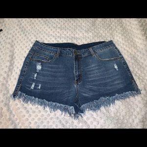 Jean Shorts-2XL - frayed edges